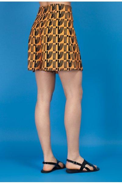 Chord shorts in ochre