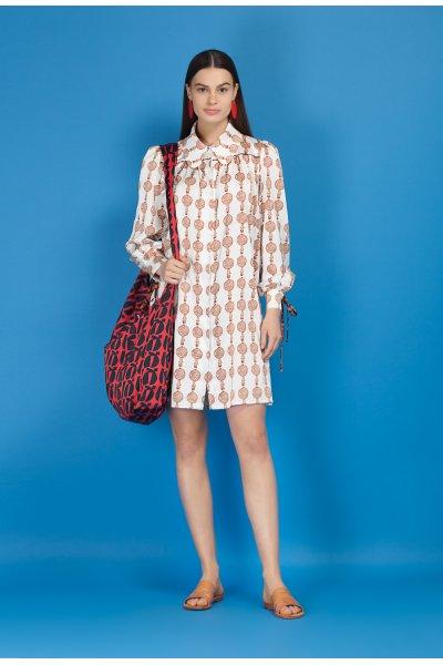 Lyre shirt dress