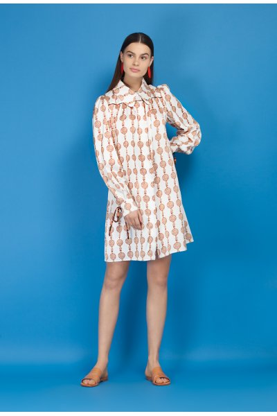 Lyre shirt dress