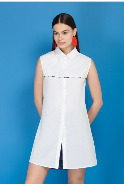 Diastem cotton tunique shirt